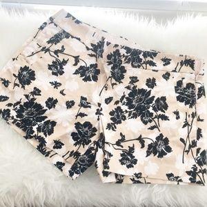 JCREW Stretch Size 14 Floral Khaki Shorts Womens